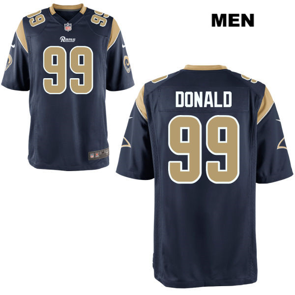 Aaron Donald Nike Mens Home Navy Los Angeles Rams Game no. 99