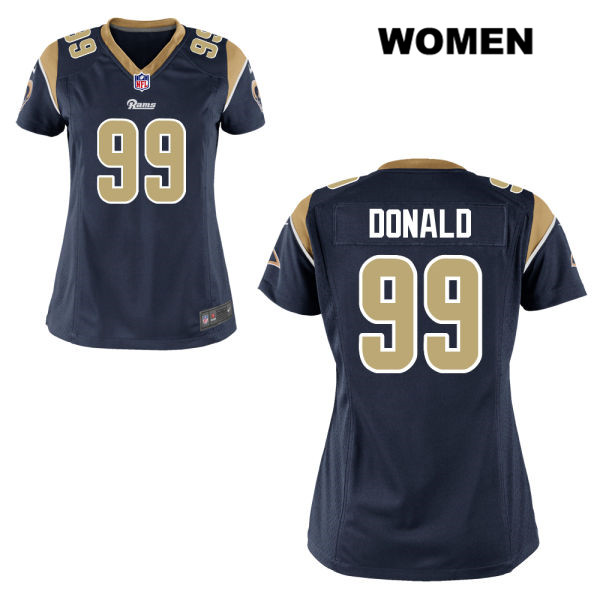 Aaron Donald Womens Nike Stitched Navy Home Los Angeles Rams Elite no. 99  Football Jersey f89afb95f
