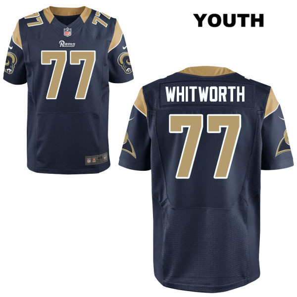 Andrew Whitworth Nike Youth Home Navy Stitched Los Angeles Rams ...