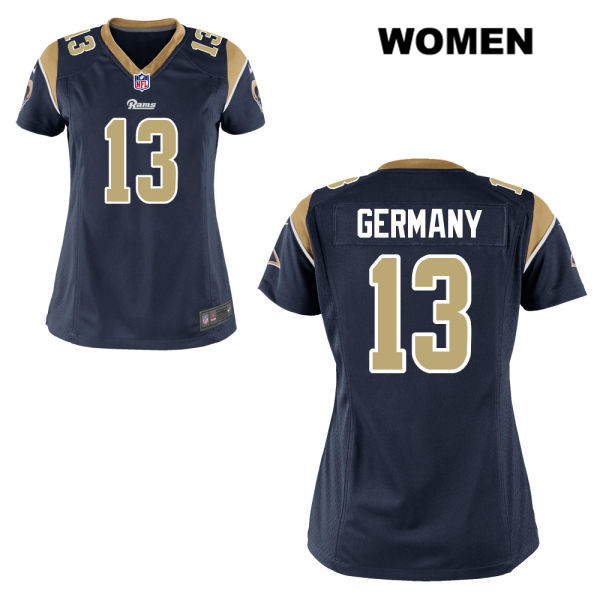 CJ Germany Nike Womens Navy Los Angeles Rams Home Game no. 13