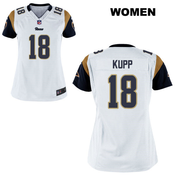 8e819b1ba Cooper Kupp Alternate Womens White Nike Los Angeles Rams Game no. 18  Football Jersey