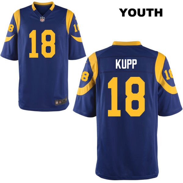 14c808eb084 Cooper Kupp Youth Blue Nike Stitched Los Angeles Rams Alternate Elite no. 18  Football Jersey