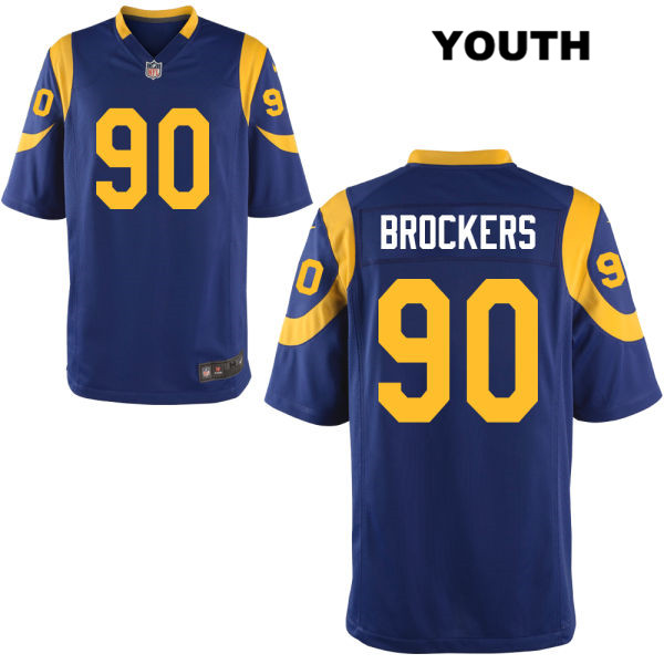 low priced 460fe 7ef59 Michael Brockers Youth Blue Nike Los Angeles Rams Stitched Elite Alternate  no. 90 Football Jersey