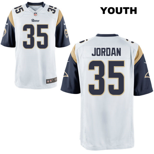 the best attitude 0c1f8 933af Michael Jordan Youth Alternate White Los Angeles Rams Nike Game no. 35  Football Jersey