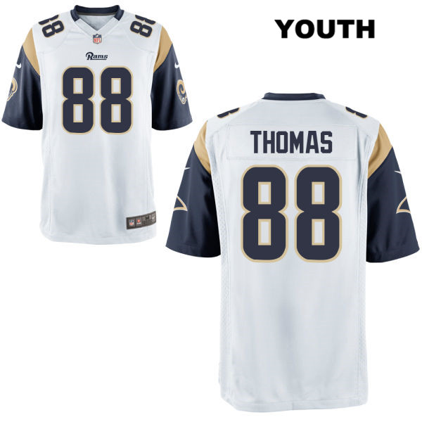 innovative design d069f a80c1 Mike Thomas Nike Youth White Los Angeles Rams Game Alternate no. 88  Football Jersey