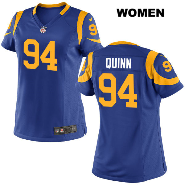 online store d2daa 0ee67 Nike Robert Quinn Alternate Womens Blue Stitched Los Angeles Rams Elite no.  94 Football Jersey