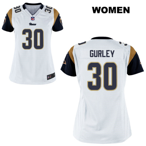 Todd Gurley Stitched Womens White Los Angeles Rams Elite Alternate Nike no.  30 Football Jersey c11f54e90